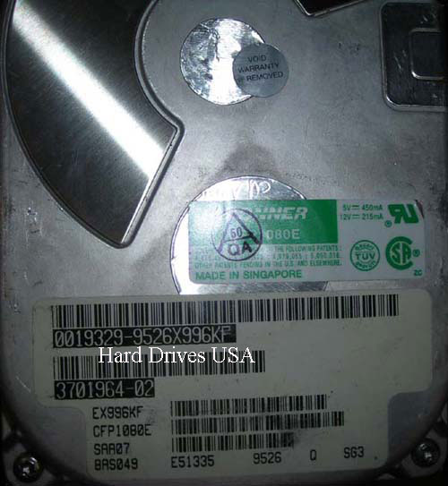 CONNER CFP1080E / ST31080WC hard drive