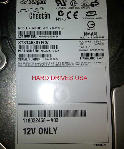 SEAGATE CHEETAH ST3146807FCV 146GB FIBRE CHANNEL