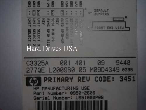 HP C3325A OPT 001 hard drive