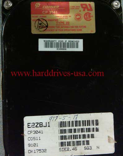 CONNER CP3041 hard drive