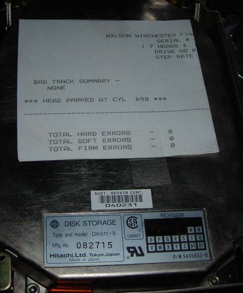 HITACHI DK511-5 Hard Drive. 90 DAYS DEFECTIVE WARRANTY