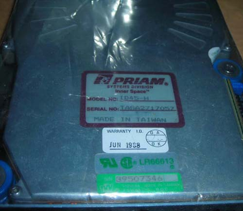 PRIAM ID45H hard drive