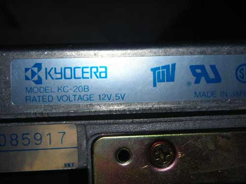 KYOCERA KC20B - MFM Hard Drive. 90 DAYS DEFECTIVE WARRANTY