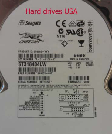 SEAGATE SCSI ST318404LW 90 DAYS DEFECTIVE WARRANTY