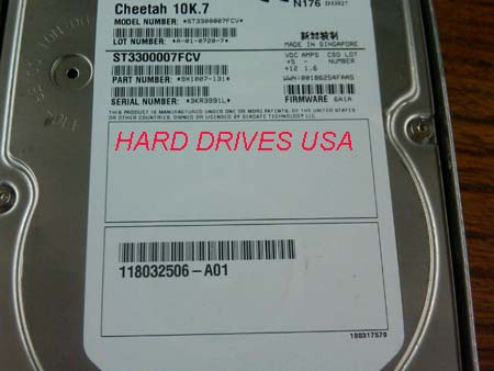 SEAGATE CHEETAH ST3300007FCV 300GB FIBRE CHANNEL