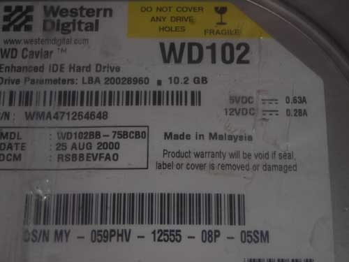 WESTERN DIGITAL WD102BB
